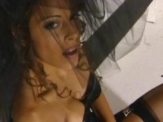 awesome milf felecia pleases in a corset and