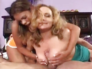 milf teases with her daughter and bf horny games