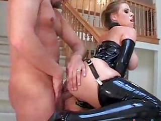 big boob mature babe does anal inside latex