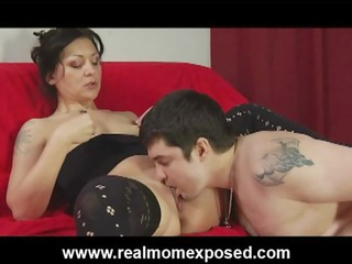 desperate tattooed housewife rough pierced on the