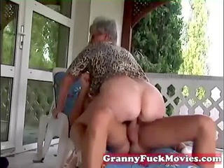 outside drilling grandma