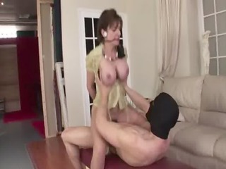 older whore inside stockings gets mad libido