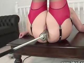grownup playing porn machine