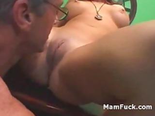 elderly fucker doggy gang-bangs booty older lady
