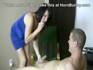 step lady blackmails her son - hornbunny.com