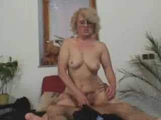 one granny masturbates a stranger