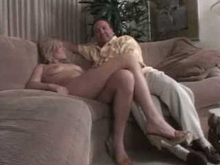 albino woman on the armchair