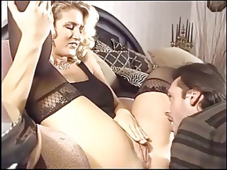 naughty bleached milf banging into black nylons