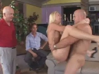 sweet albino housewife screwed and got a facial