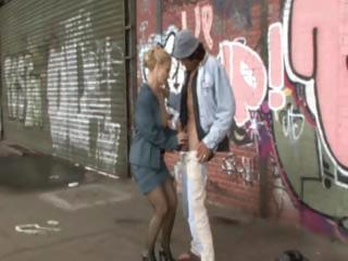 cougar woman pierced by homeless man