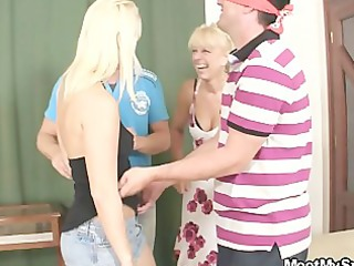 perverted parents lure his gf in triple