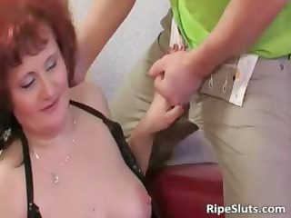 mommy has super large breast as she bends part6