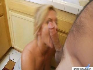 hardcore mature babe inside kitchen gets surprise