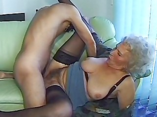 horny granny girl takes big cock
