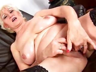 elderly janka masturbates solo
