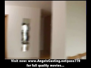 amateur charming albino bride adorable talking