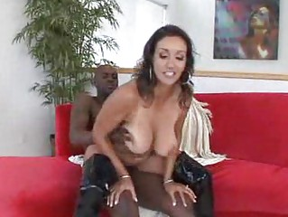 luscious milf girl has a unmerciful interracial