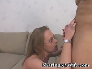 naughty housewife slurps amateur stud