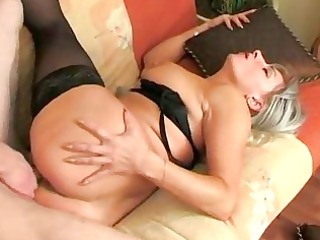 he wakes up nylons old and fucks her