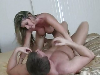 stunning horny milf with giant chest fucking