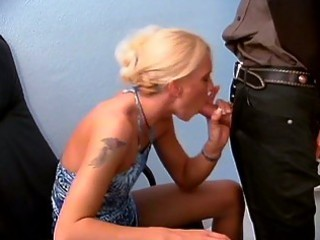 a tattooed milf lick of her boss