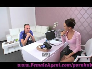 femaleagent. babe seduces hesitant stud