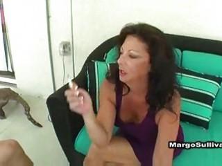 awesome grownup margo smoking fuck