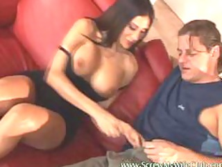 hubby watched his woman got into a so messy sex