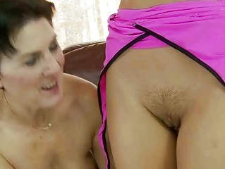 elderly and adorable amateur making adore