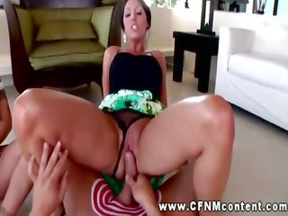 cfnm angel grinding cavity on cock and cant get