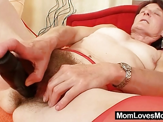 ugly elderly matylda spreads and toys shaggy pussy