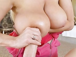 enjoying blonde cougar girl with big boobs does