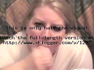 blond woman huge facial