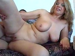 he sure is happy to gang bang this chubby lady