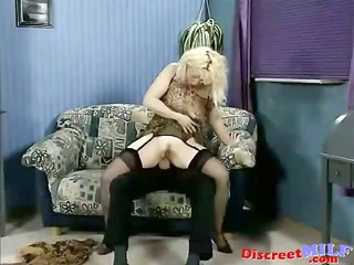 horny german mature babe drilled in the bottom