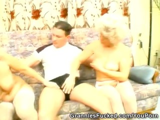 two grannies share one dick