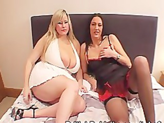 great boobed lady and older take facials