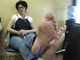 mature clerk foot