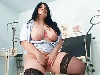 huge boobs inexperienced lady rosana spreads her