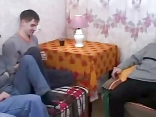natural russian milf bangs her sons allies