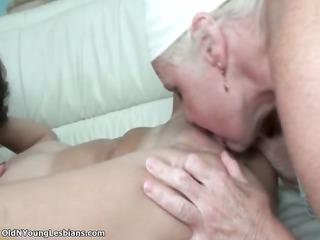 naughty elderly lesbian woman enjoys licking part2