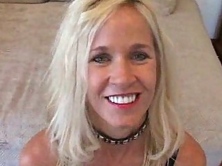 blonde milf bitch loves to give strangers