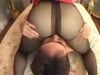 stunning ebony nylons