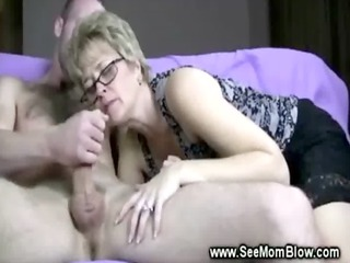 naughty lady into spex sucks dick for so