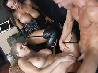 albino and brunette grown-up babes taking their