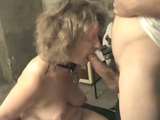 giving her master a fellatio