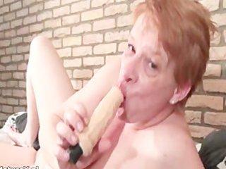 slutty older girl tasting big dildo part5
