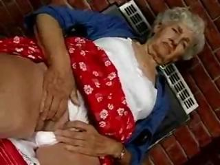 hairy elderly worships sex toys
