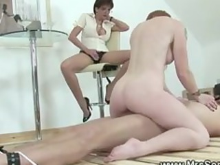 fluky slave takes fucked by one of his woman