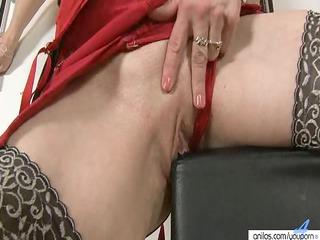 large nippled woman pleases and vibrators vagina